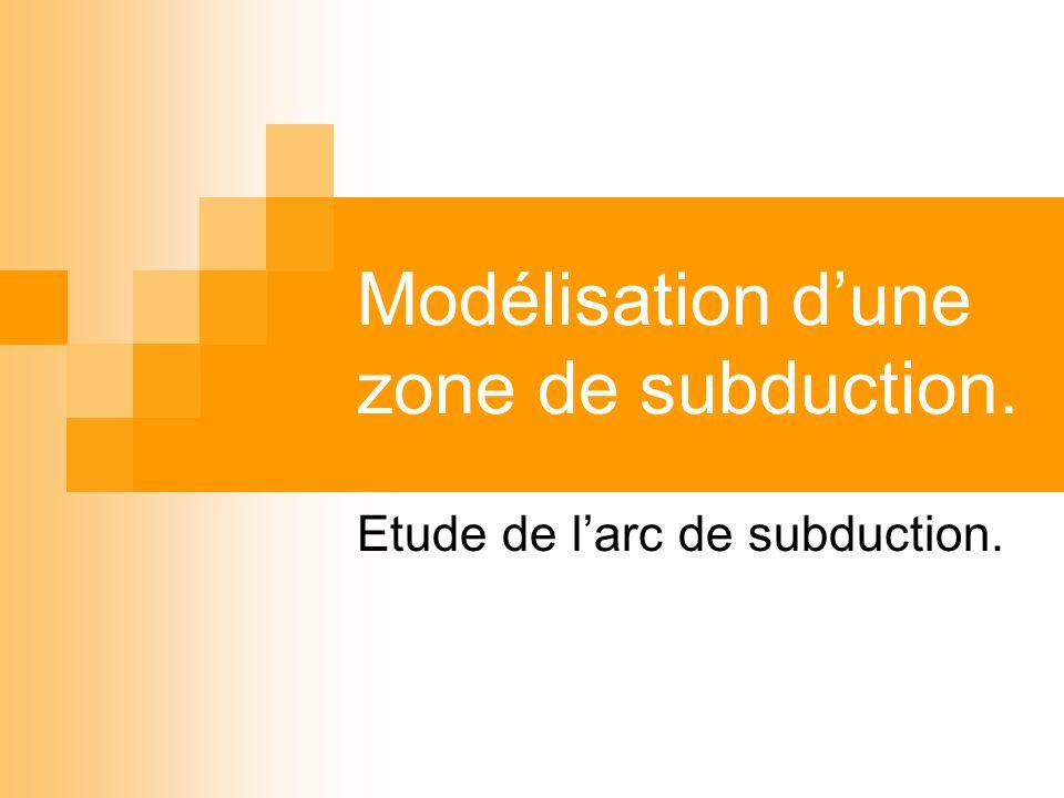 Modélisation d'une zone de subduction.