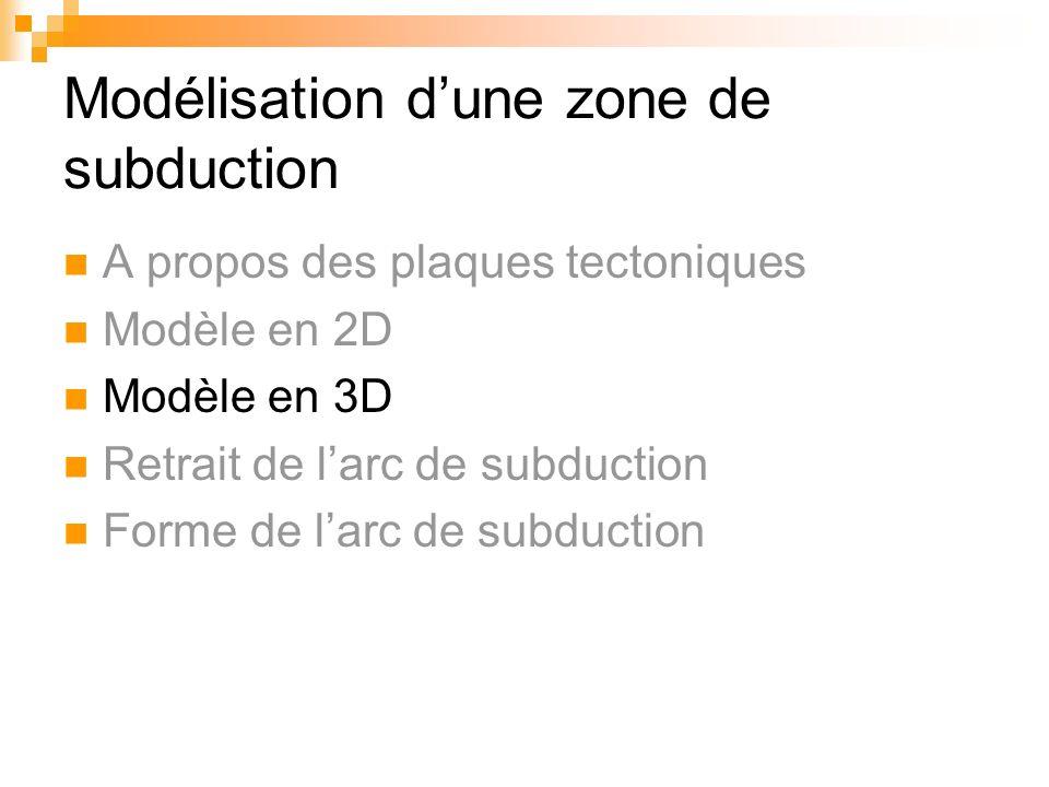 Modélisation d'une zone de subduction