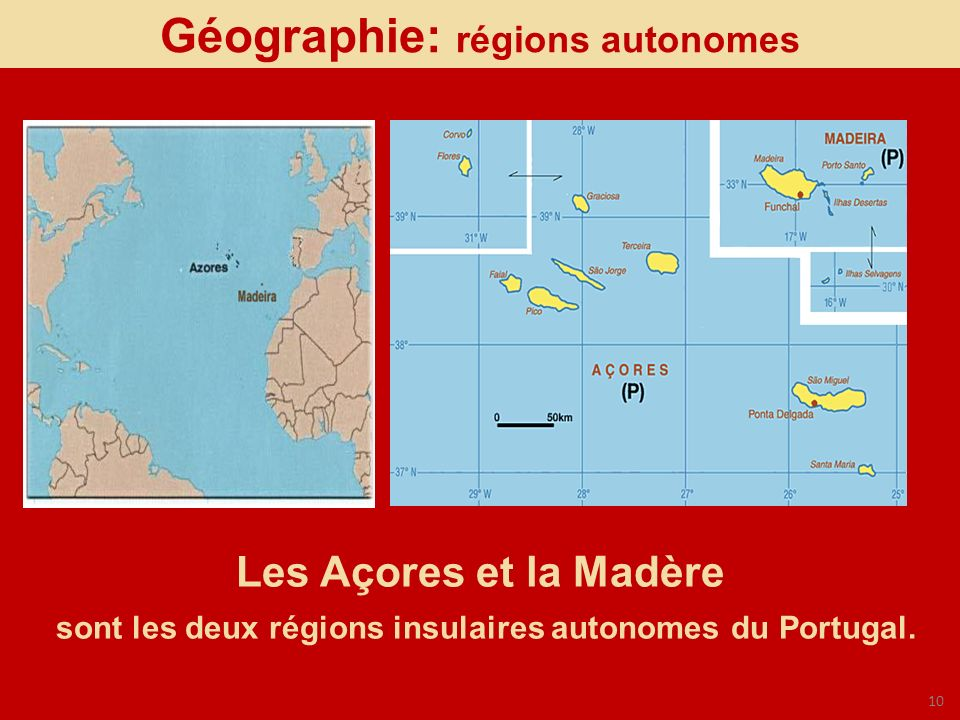 Géographie: régions autonomes