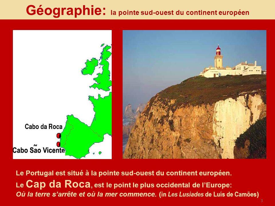 Géographie: la pointe sud-ouest du continent européen