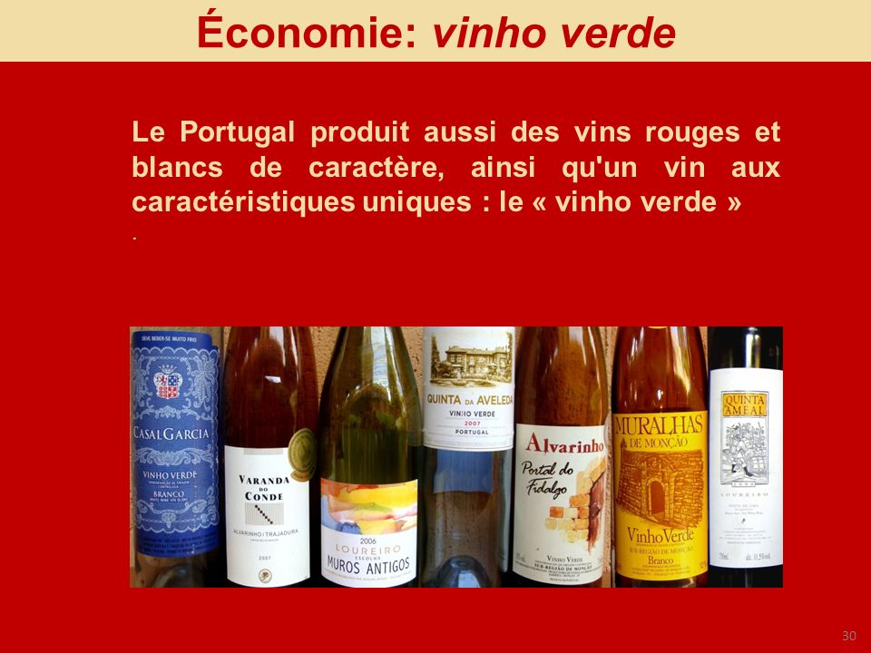 Économie: vinho verde
