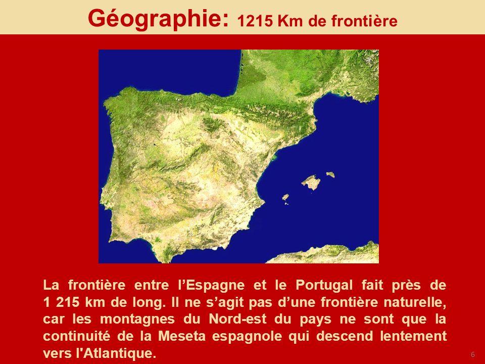 Géographie: 1215 Km de frontière