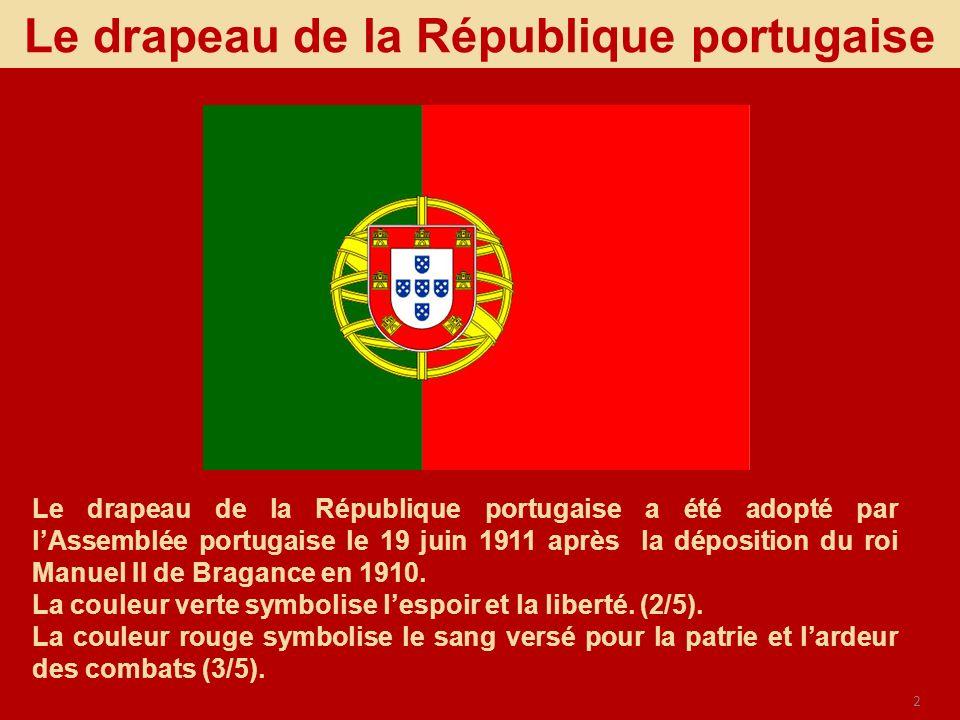 Le drapeau de la République portugaise