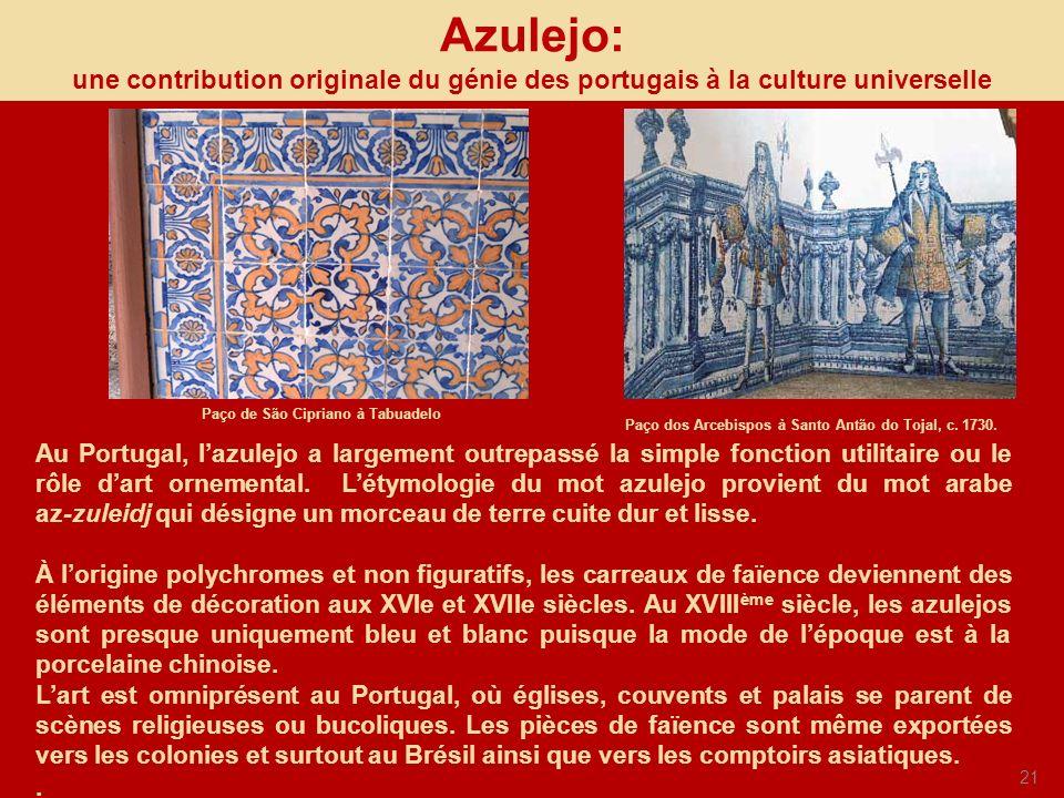 Azulejo: une contribution originale du génie des portugais à la culture universelle. Paço de São Cipriano à Tabuadelo.