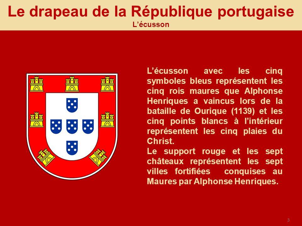 Le drapeau de la République portugaise L'écusson