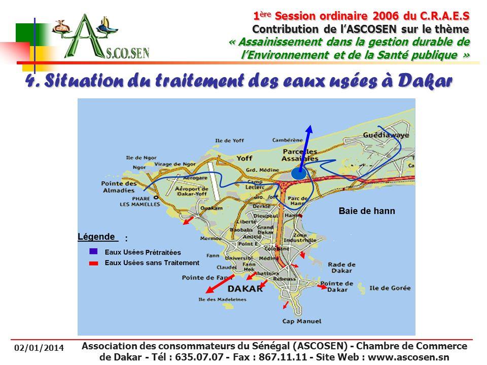 4. Situation du traitement des eaux usées à Dakar