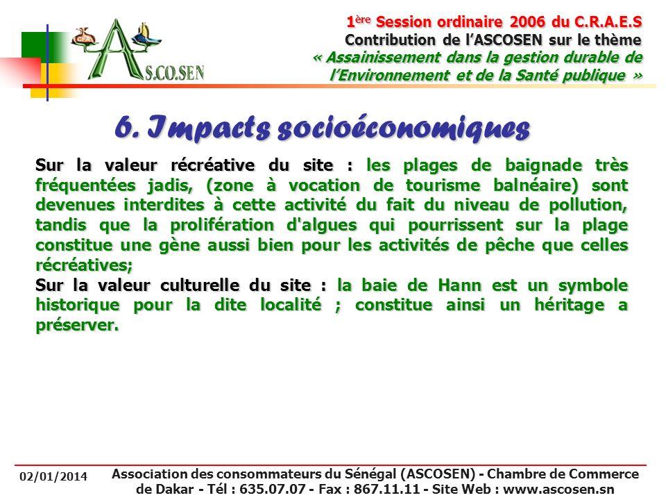 6. Impacts socioéconomiques