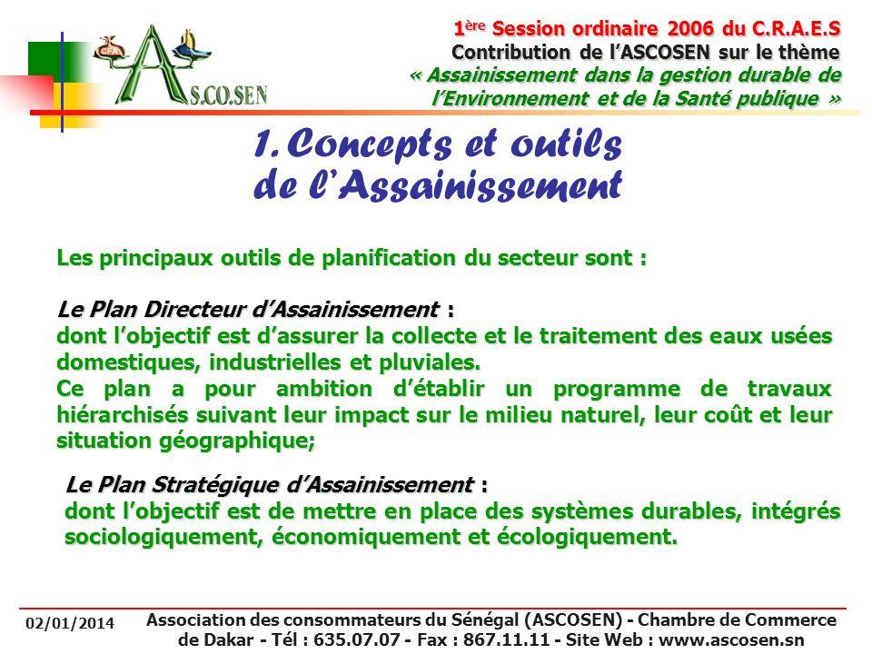 1. Concepts et outils de l'Assainissement