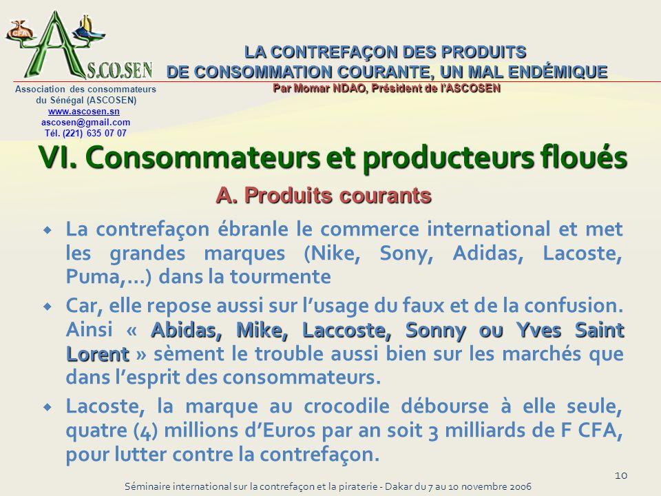 VI. Consommateurs et producteurs floués