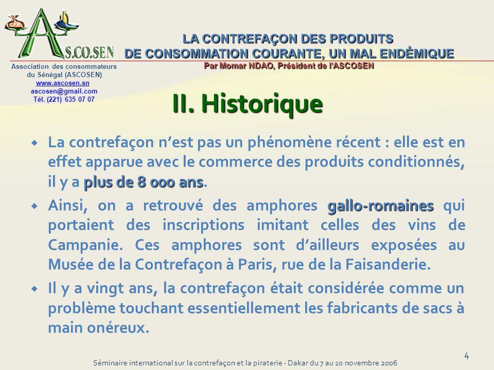II. Historique