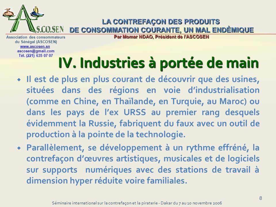 IV. Industries à portée de main