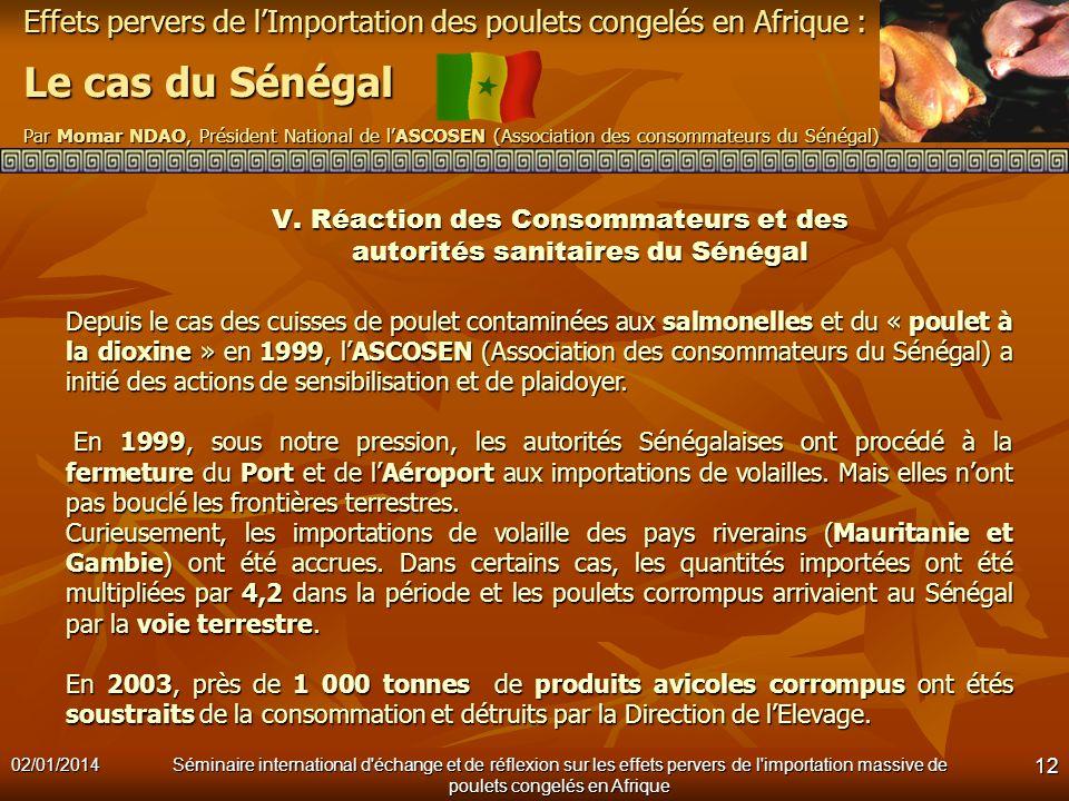 V. Réaction des Consommateurs et des autorités sanitaires du Sénégal