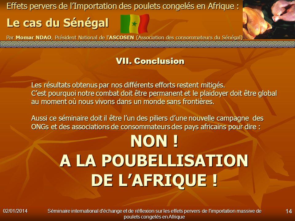 NON ! A LA POUBELLISATION DE L'AFRIQUE !