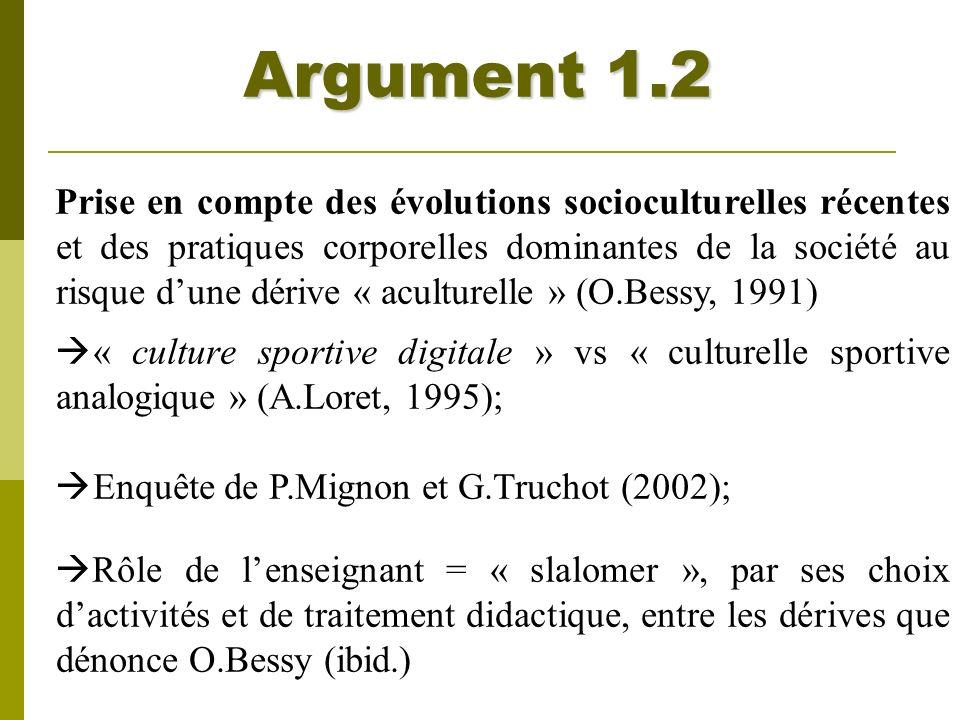 Argument 1.2