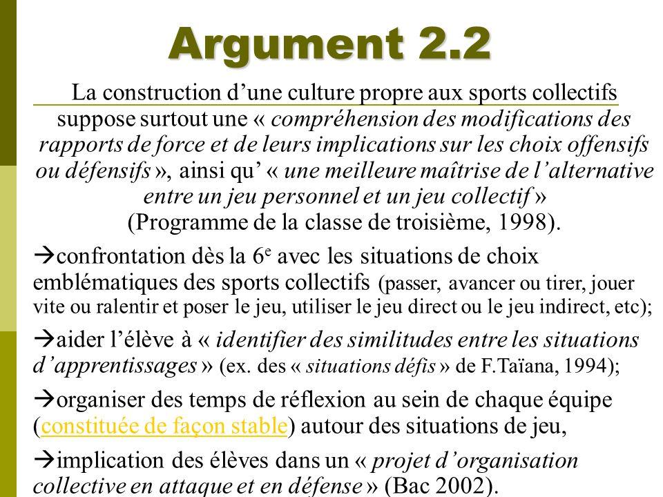 Argument 2.2