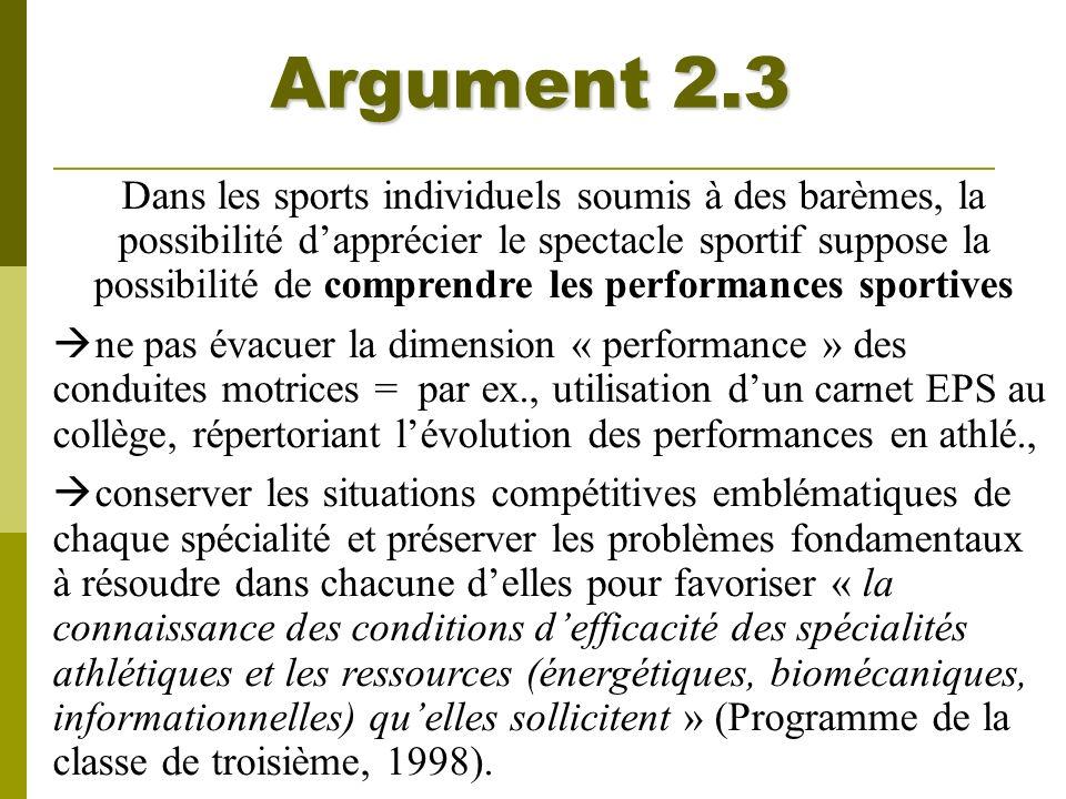 Argument 2.3
