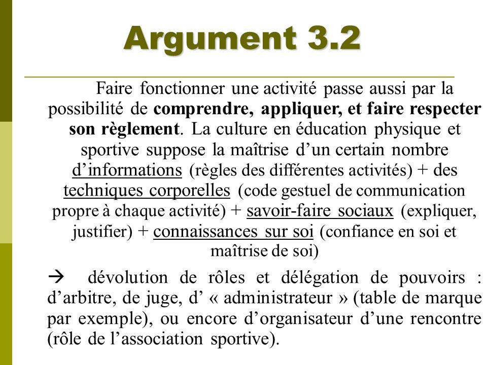 Argument 3.2