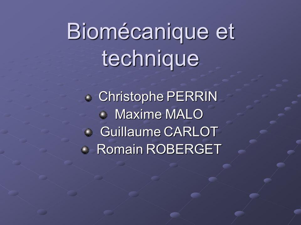 Biomécanique et technique
