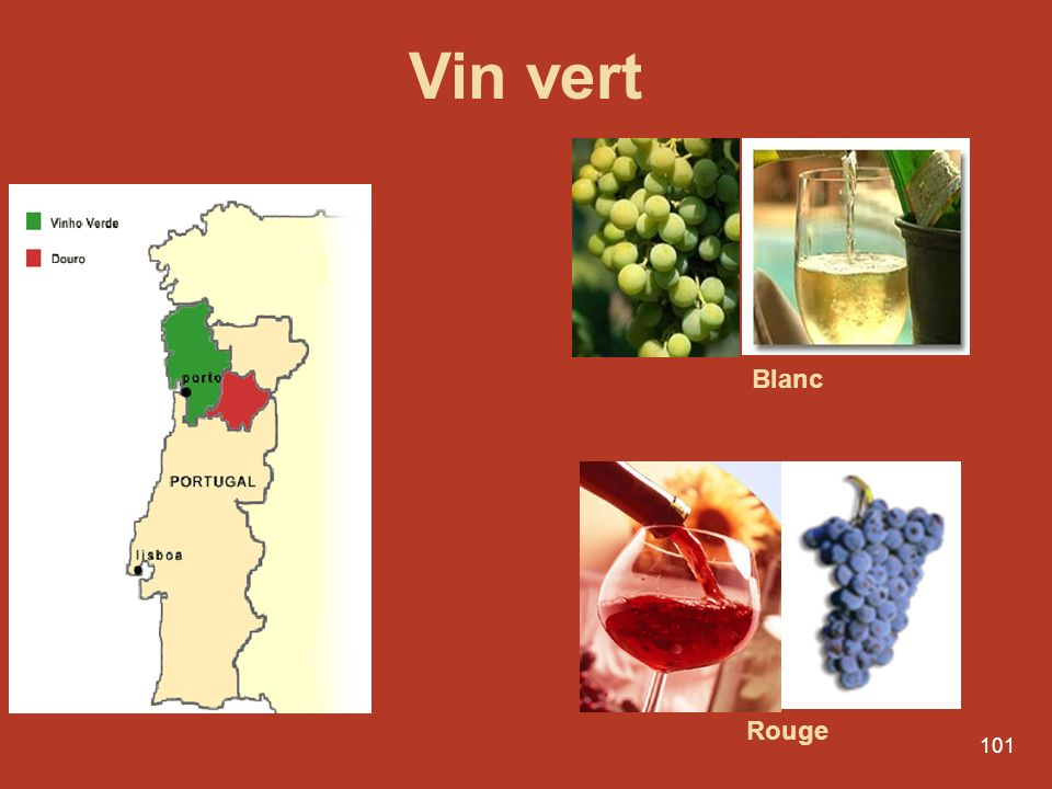 Vin vert Blanc Rouge
