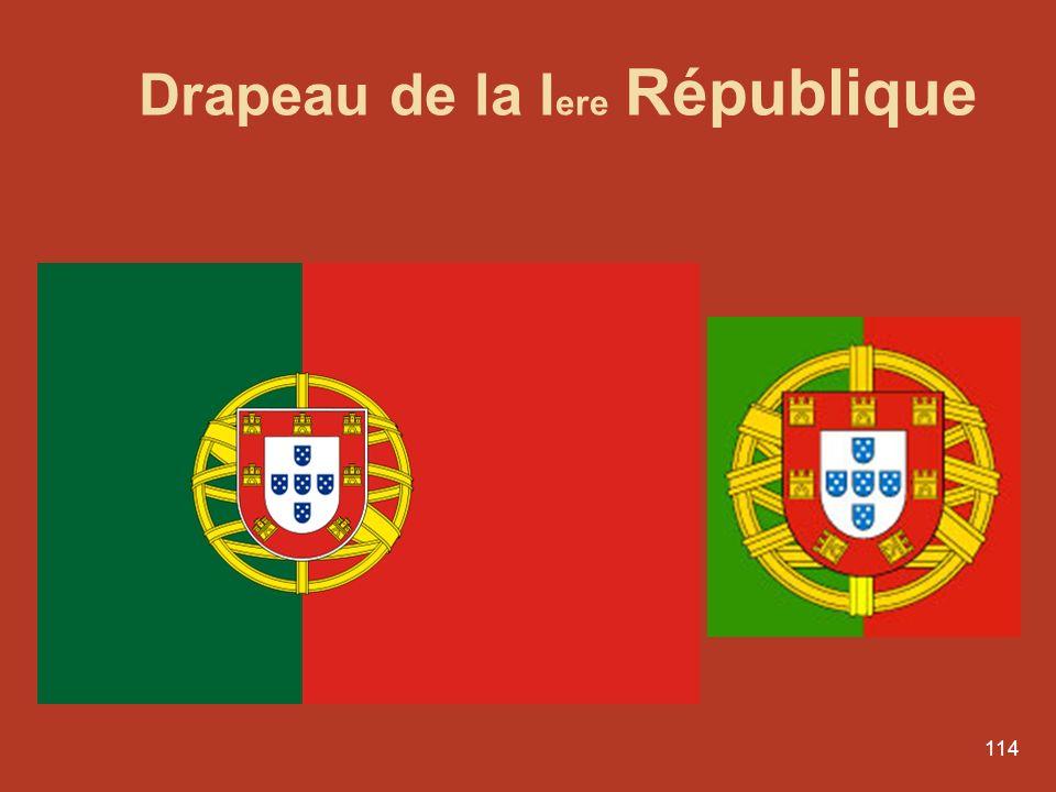 Drapeau de la Iere République