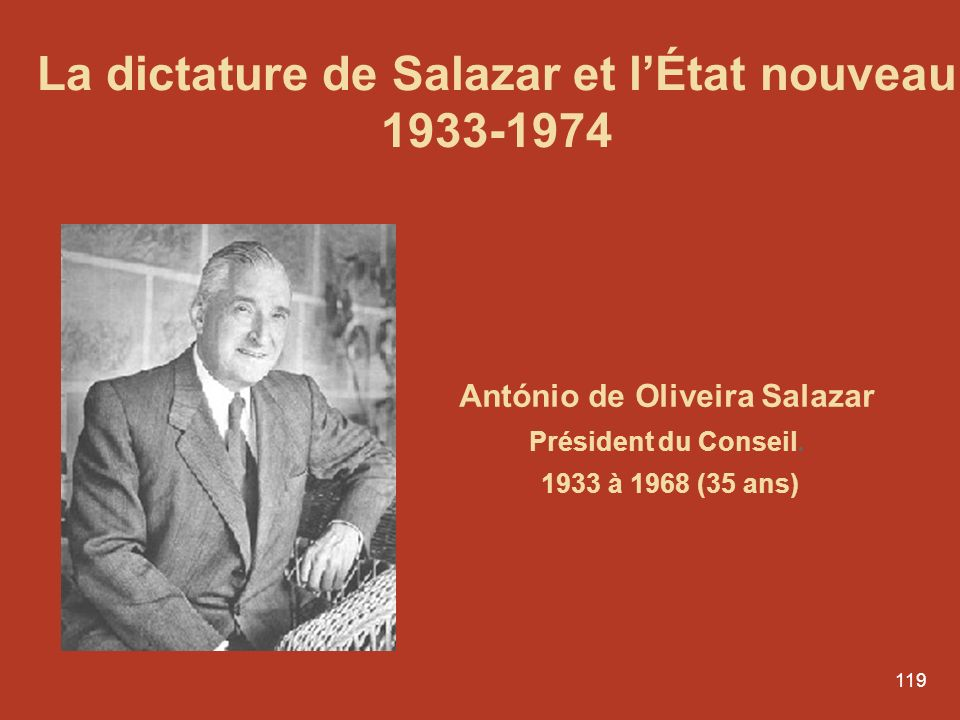 La dictature de Salazar et l'État nouveau António de Oliveira Salazar