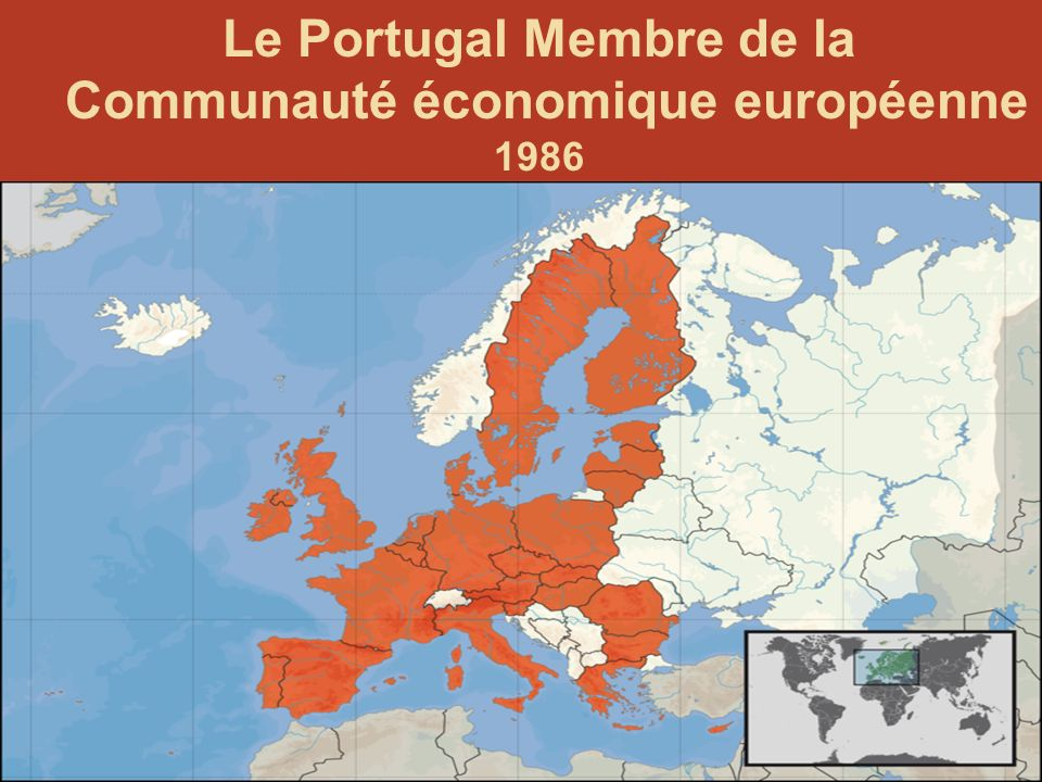Le Portugal Membre de la Communauté économique européenne