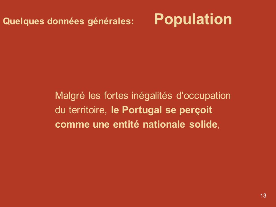 Quelques données générales: Population