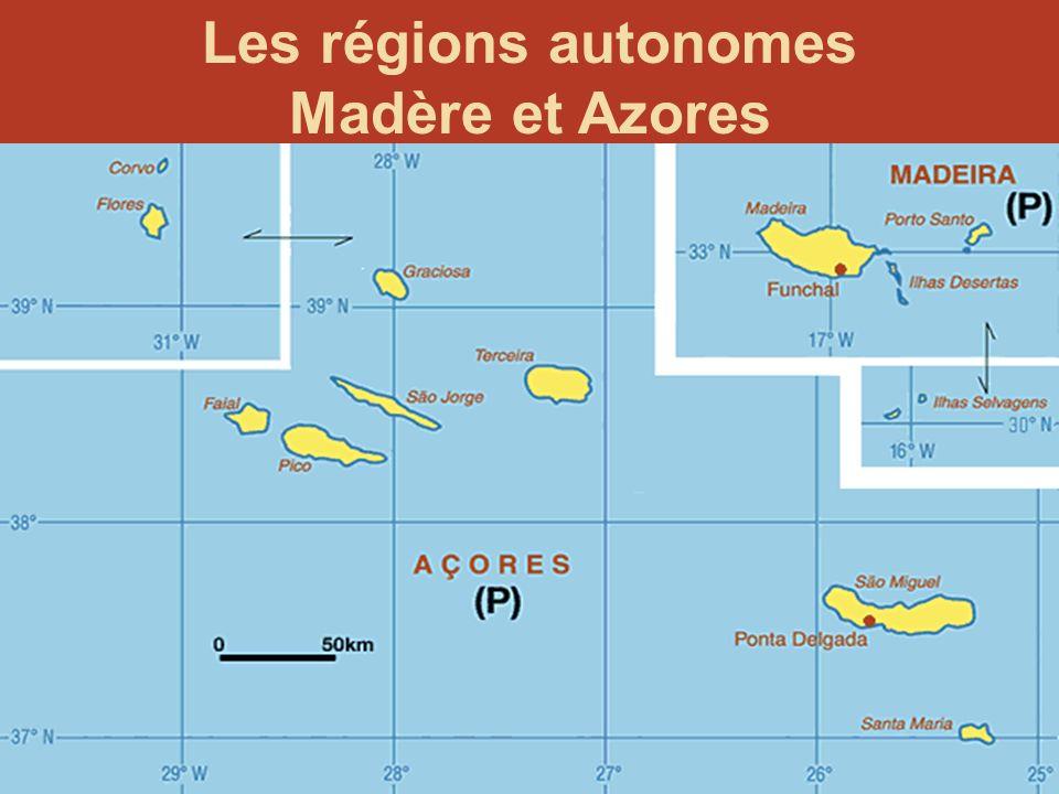 Les régions autonomes Madère et Azores