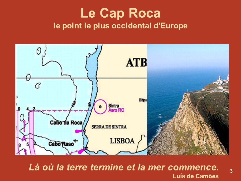 Le Cap Roca le point le plus occidental d Europe