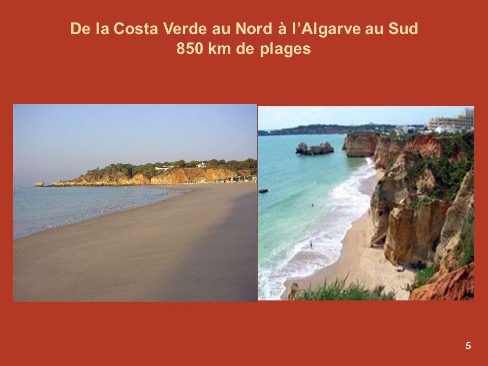 De la Costa Verde au Nord à l'Algarve au Sud