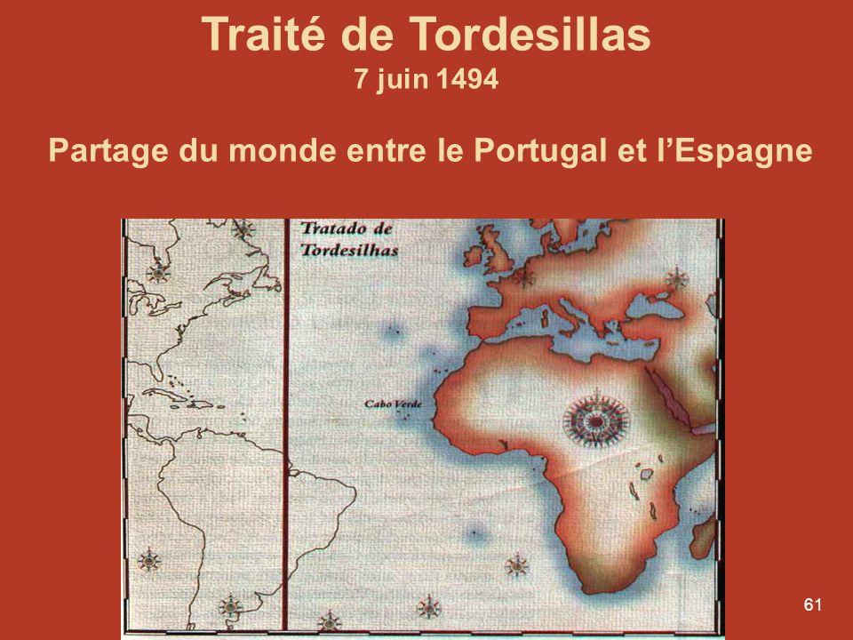 Partage du monde entre le Portugal et l'Espagne