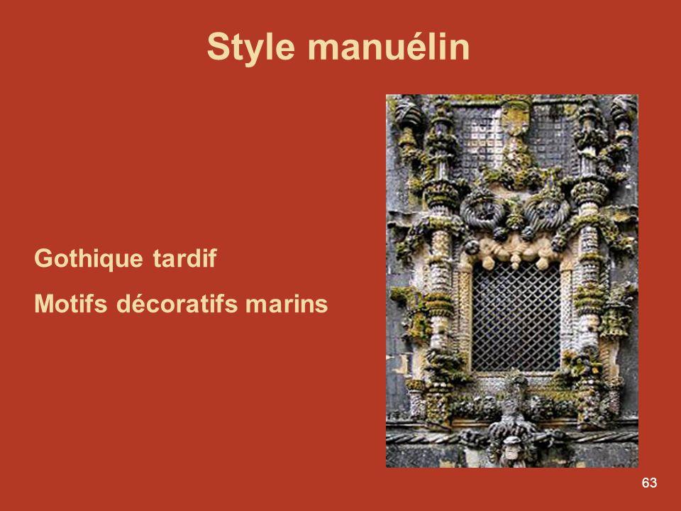 Style manuélin Gothique tardif Motifs décoratifs marins