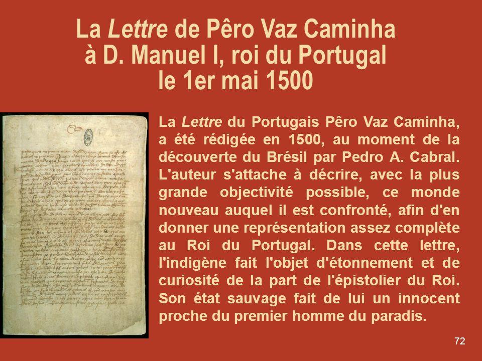 La Lettre de Pêro Vaz Caminha à D