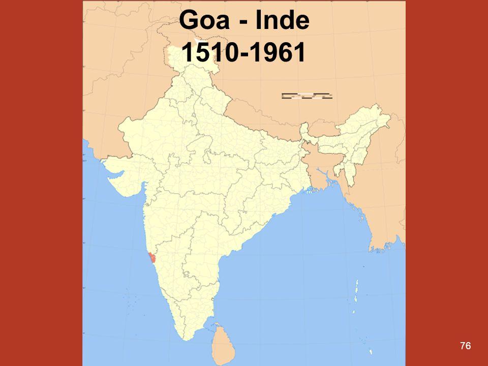 Goa - Inde 1510-1961
