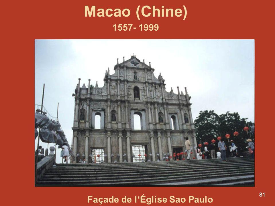 Macao (Chine) 1557- 1999 Façade de l'Église Sao Paulo