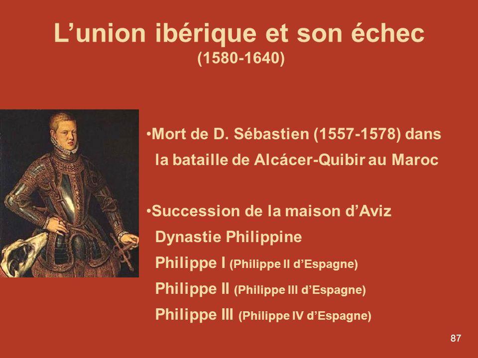 L'union ibérique et son échec