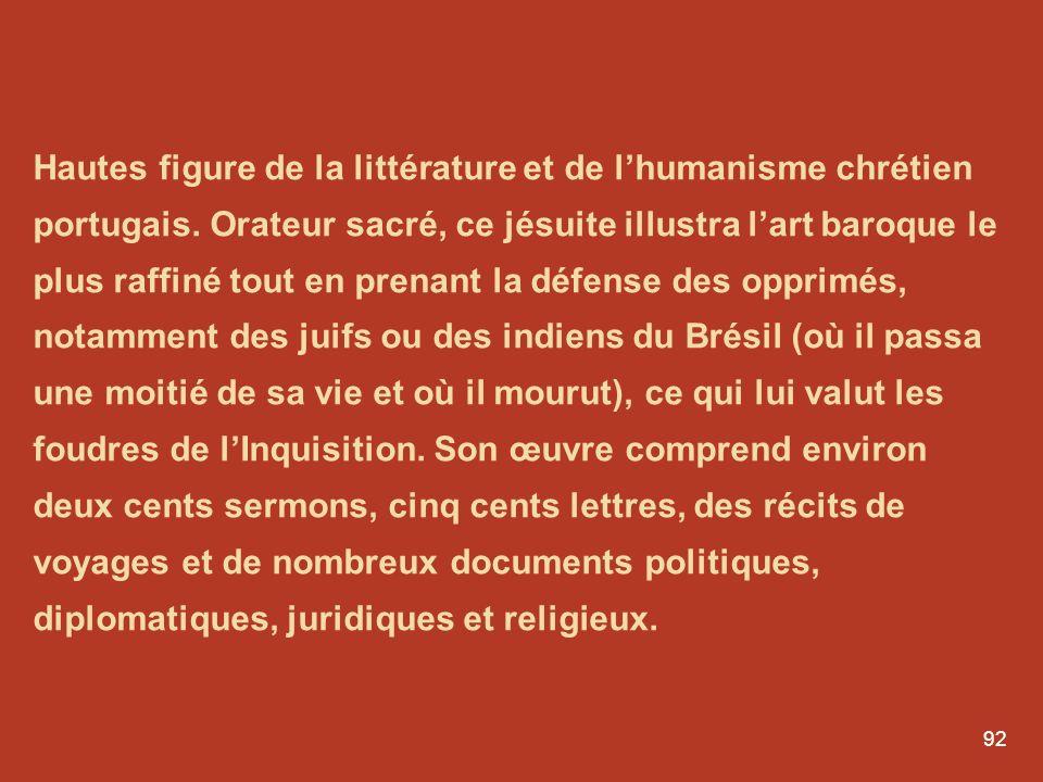 Hautes figure de la littérature et de l'humanisme chrétien portugais