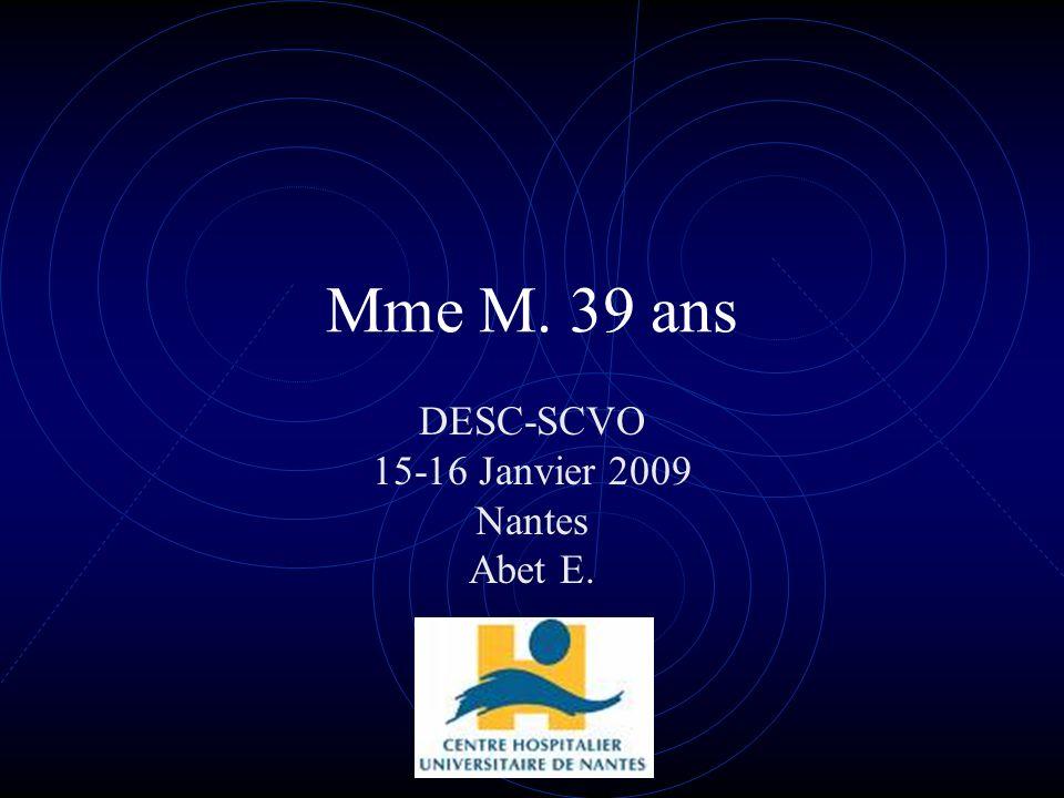 DESC-SCVO 15-16 Janvier 2009 Nantes Abet E.