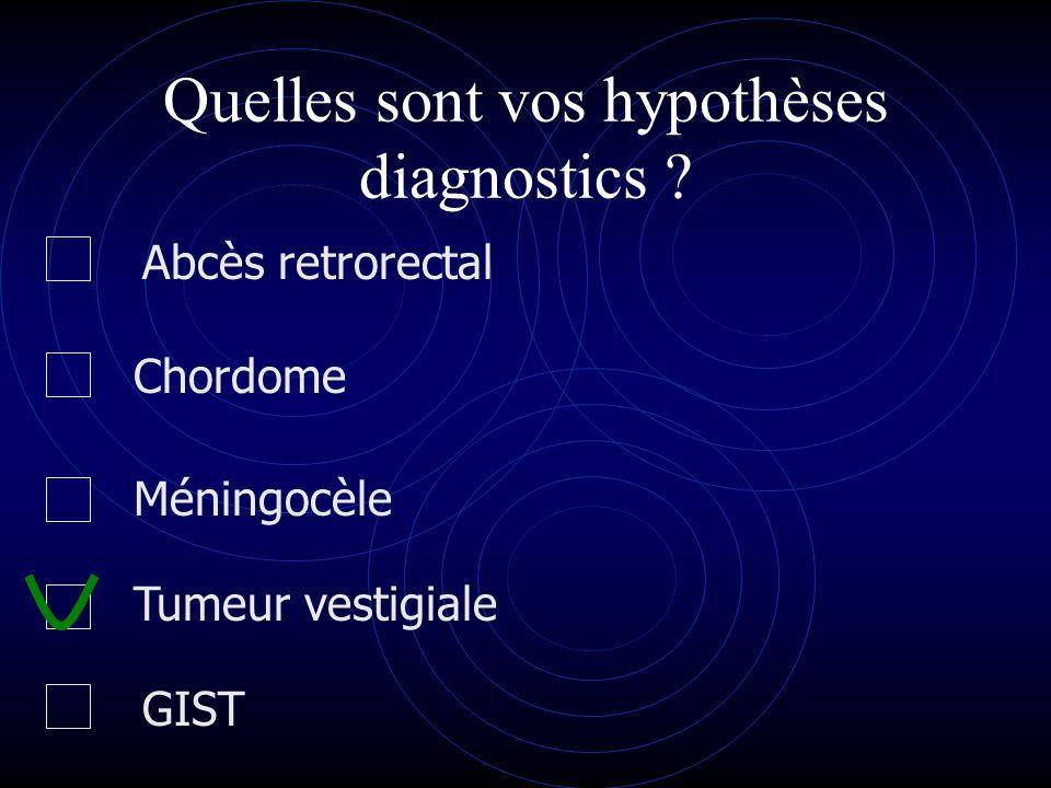 Quelles sont vos hypothèses diagnostics