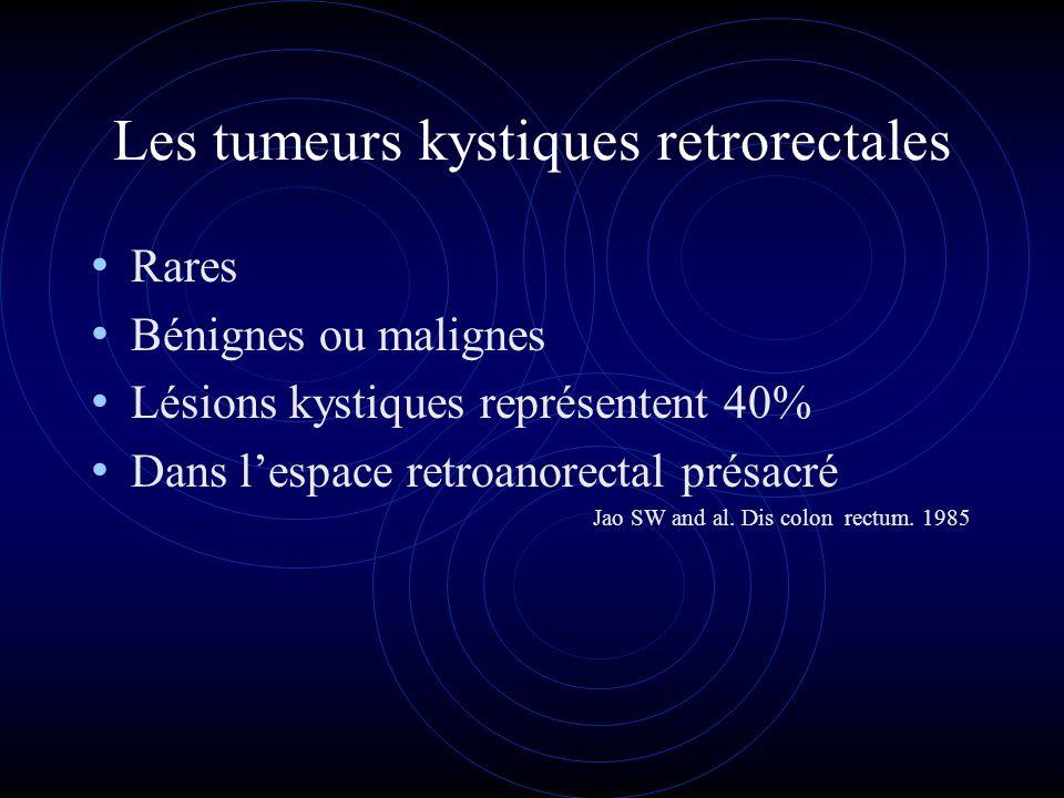Les tumeurs kystiques retrorectales