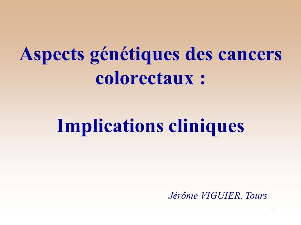 Aspects génétiques des cancers colorectaux : Implications cliniques