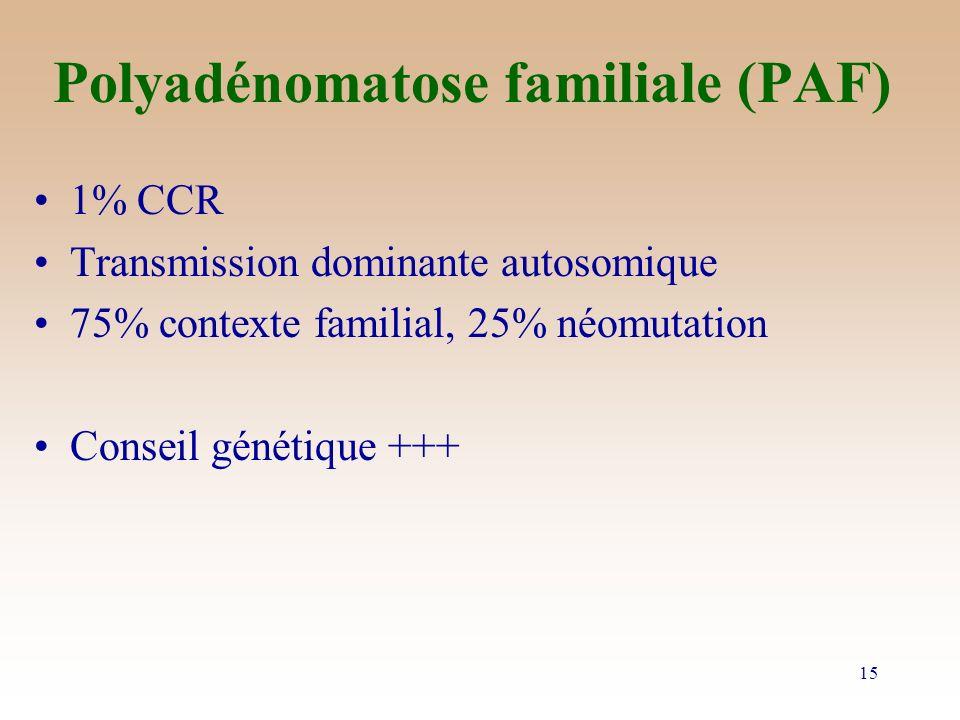 Polyadénomatose familiale (PAF)