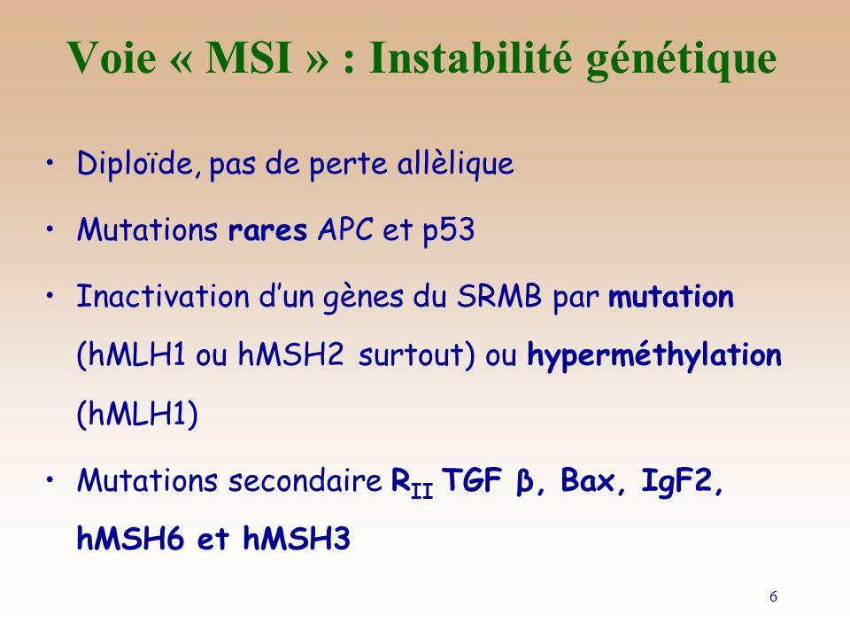 Voie « MSI » : Instabilité génétique