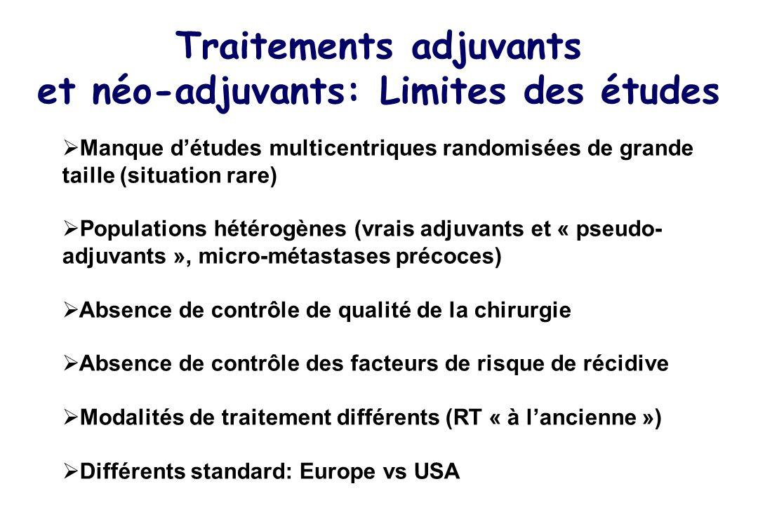 Traitements adjuvants et néo-adjuvants: Limites des études