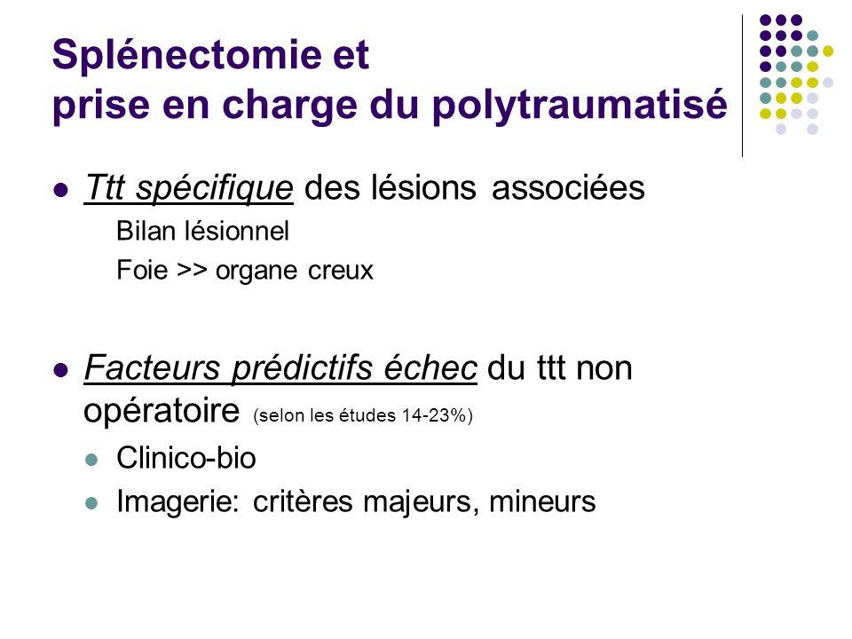 Splénectomie et prise en charge du polytraumatisé