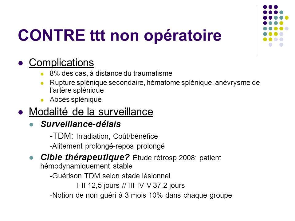 CONTRE ttt non opératoire