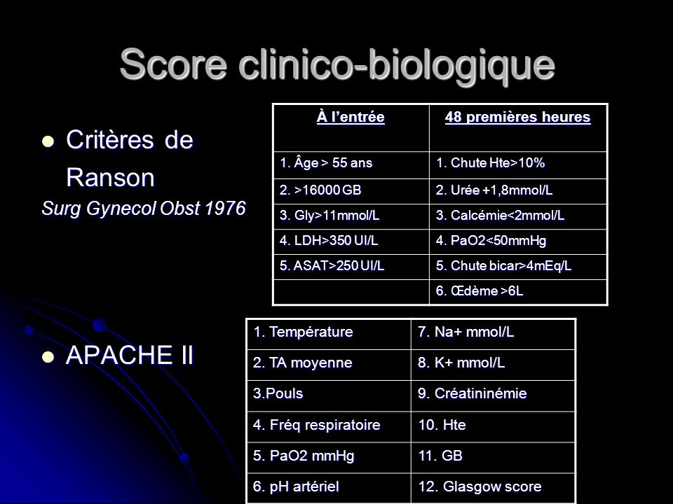 Score clinico-biologique