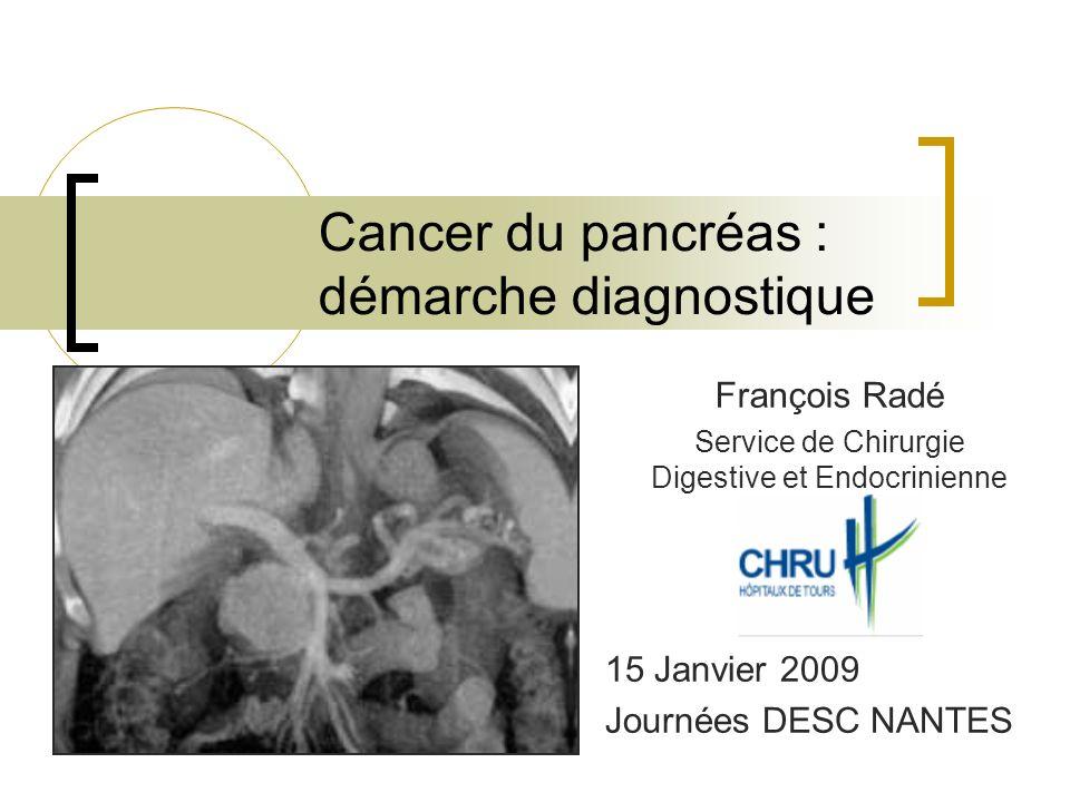 Cancer du pancréas : démarche diagnostique