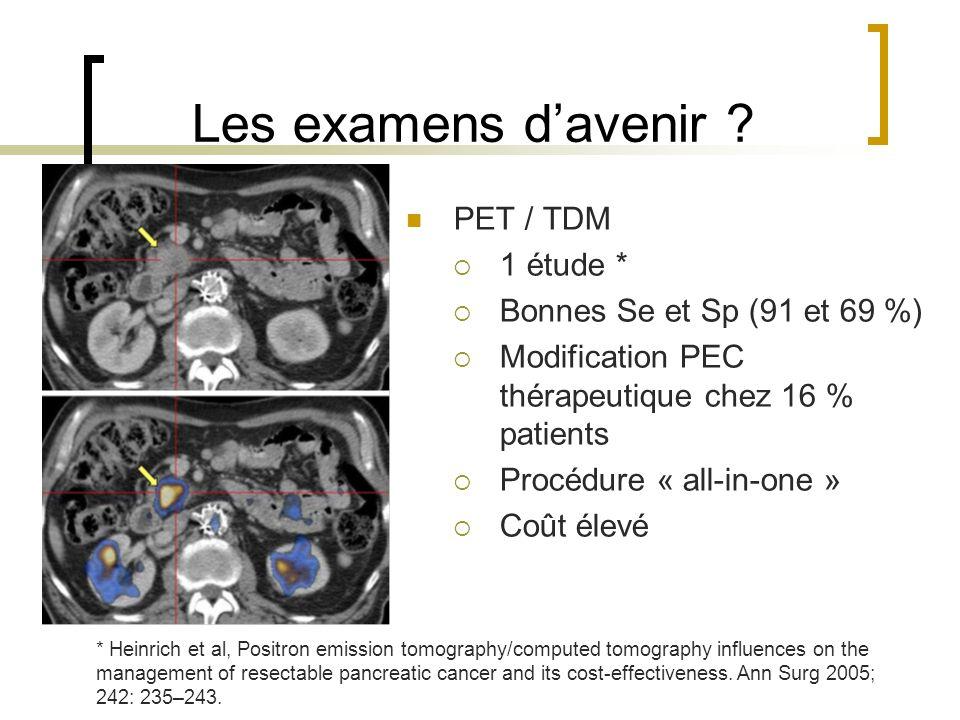 Les examens d'avenir PET / TDM 1 étude *