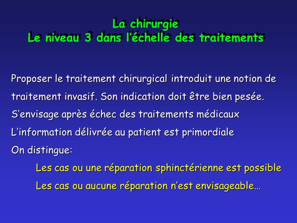 Le niveau 3 dans l'échelle des traitements